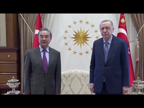 Chinese foreign minister meets Turkish president and FM