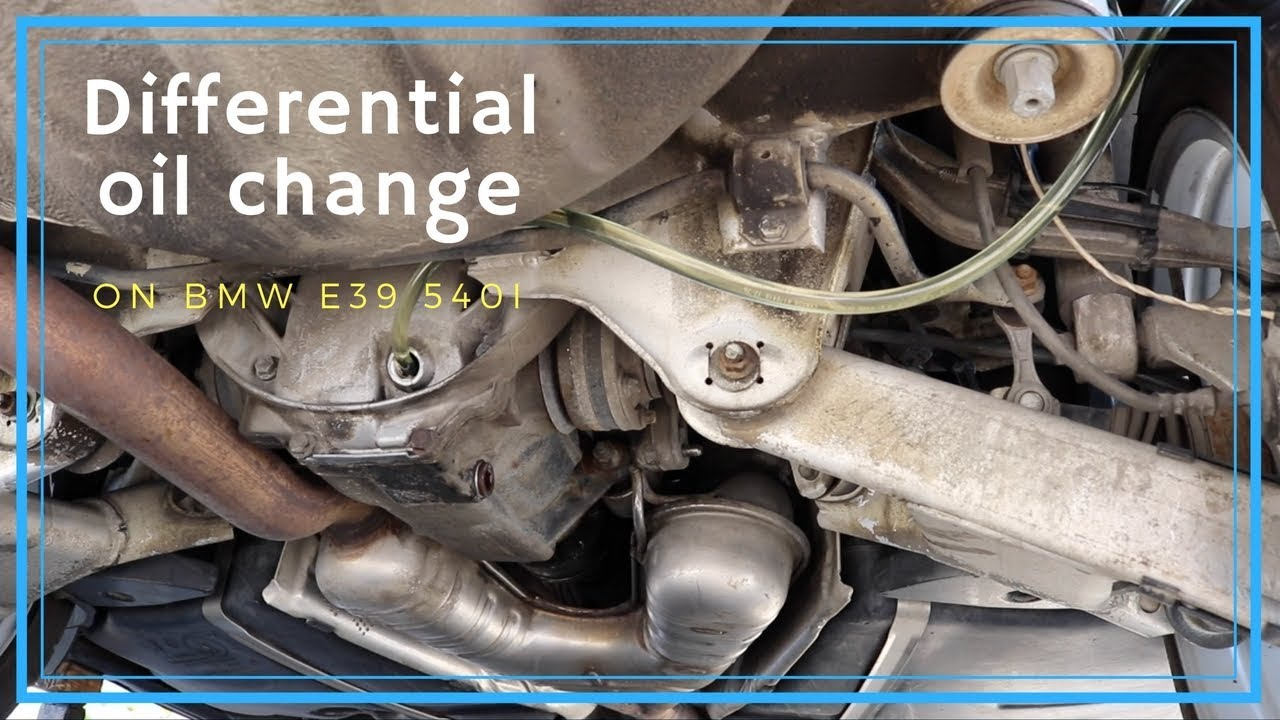 How to change differential oil on BMW e39, DIY