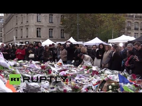 LIVE: Parisians mourn victims of Friday's attacks at Republic Square