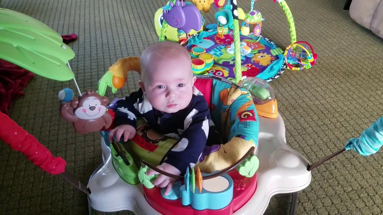 7f21ecfa1185 Fisher Price Luv U Zoo Jumperoo Review!!! - YouTube