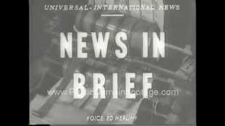 Second Narrows Bridge Collapse June 17th 1958 Newsreel
