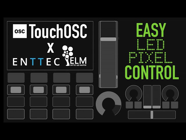 Easy LED pixel control using TouchOSC