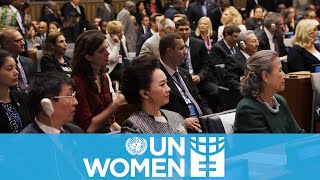 World leaders commit to gender equality