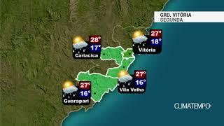 Previsão Grande Vitória - Um pouco de chuva nesta segunda