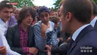 Fransa Cumhurbaşkanı Macron kendisine 'Manu' diye hitap eden öğrenciyi azarladı