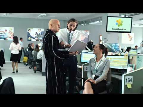 Sky Broadband Advert - Bruce Willis music by Jonathan Goldstein