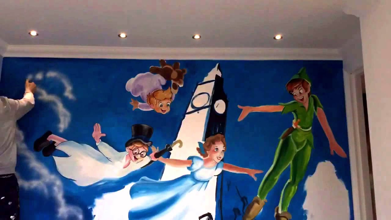 Peter Pan Time Lapse Mural By Drews Wonder Walls Part 64