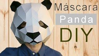 Cómo hacer una MÁSCARA de PANDA con PAPEL opalina Facil y muy rápido - Momuscraft
