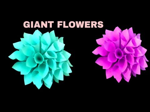Giant Paper Flowers / DIY. Giant Flowers /Easy Paper Craft /DIY. Wall Decor