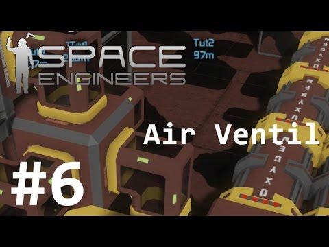#6 Space Engineers - Airvent Ventil + Auto Docking System Waypoint Bahnhof