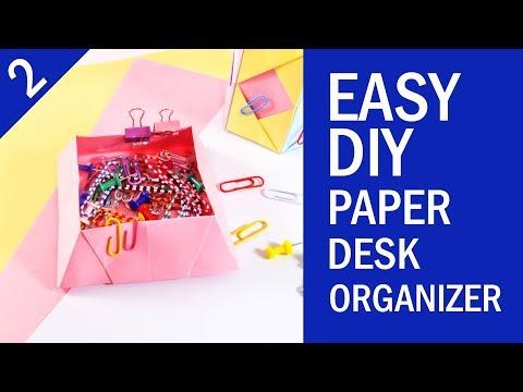 EASY DIY PAPER DESK ORGANIZER TUTORIAL | Back to School Project | Part 2