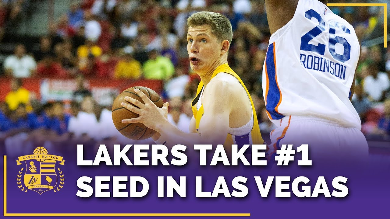 f210012cff76 Lakers Earn No. 1 Seed At Las Vegas Summer League After Defeating Knicks