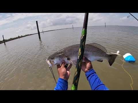 Texas City Wade Fishing For TROUTS/FLOUNDERS.