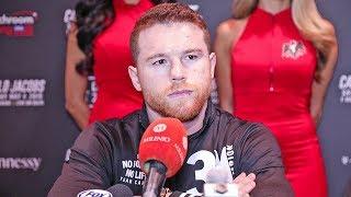 Canelo Álvarez FULL VEGAS Q&A vs. Daniel Jacobs