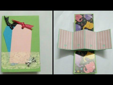 Twist and pop up card/DIY card /photo card/paper folding card(mrin art)