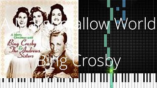 🎹 A Marshmallow World, Bing Crosby, Synthesia Piano Tutorial