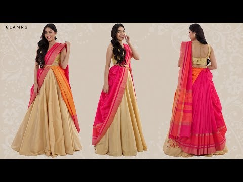 How To Drape Your Saree With A Lehenga | Silk Saree Hack! thumbnail