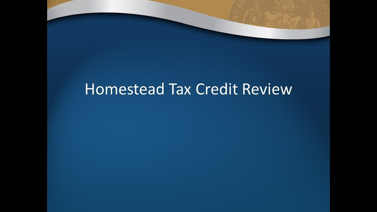 Homestead Credit Filing Overview for Tax Preparers - YouTube