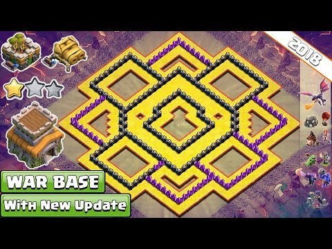 BEST! Town Hall 8 (TH8) Clan-War Base 2018 !! NEW TH8 War Base Layout - Clash Of Clans
