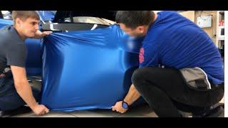 Оклейка автомобиля виниловой пленкой на примере BMW G30! Как правильно клеить пленку на авто.
