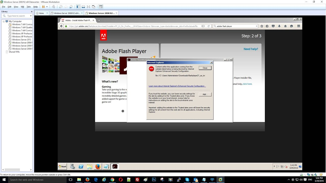 Can 39 t install adobe flash on windows server youtube Install adobe flash