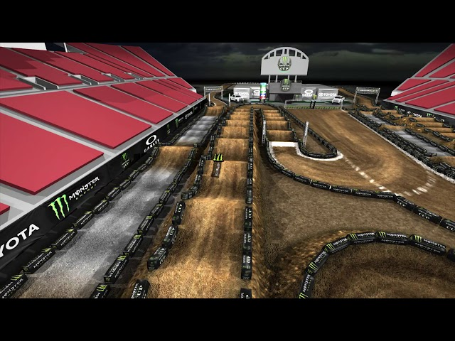 2019 Monster Energy Cup Track Map - Outside