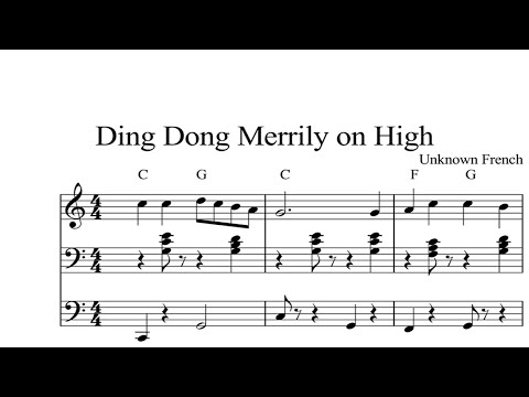 Ding Dong Merrily on High: CHRISTMAS SHEET MUSIC Piano Organ & Keyboard Book 2