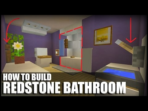 How To Make A Redstone Bathroom In Minecraft