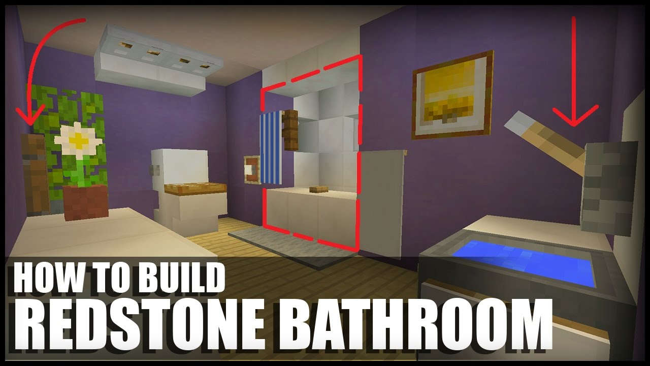how to make a redstone bathroom in minecraft youtube