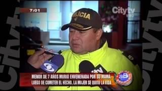 Niña de 7 años fue envenenada  CityTv   Arriba Bogotá  Febrero 2
