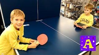 ПОХОД В МАГАЗИН СПОРТ МАСТЕР ИГРАЕМ В НАСТОЛЬНЫЙ ТЕНИС(Влад и Свят играют в настольный тенис в спорт мастере. Подписывайтесь, ставьте лайки и делайте коментарии...., 2016-10-25T06:41:08.000Z)