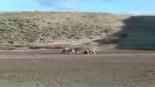 440 Honda Pilot, 670 polaris Pilot, 420 cc 350 fl350 Odyssey drag race at Killpecker dunes Wy 06 drakart gokart sand dunes atv fl350r fl250