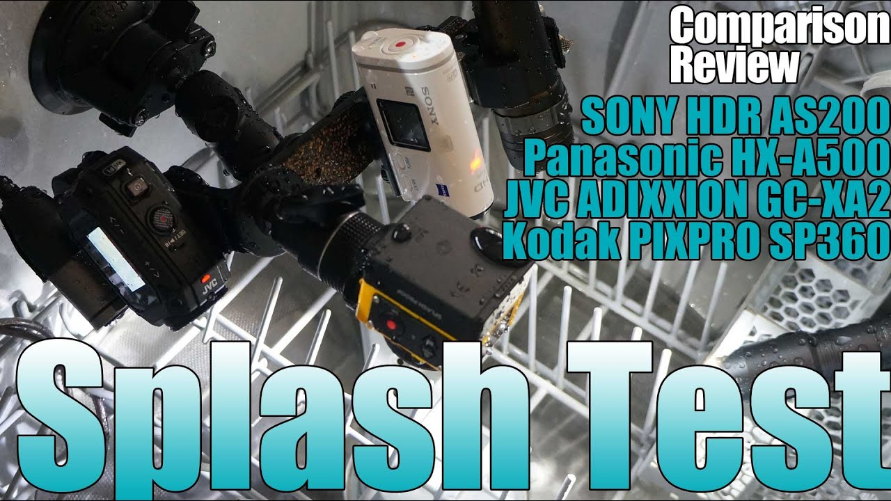 action cam sony as200 panasonic hx a500 splash test youtube. Black Bedroom Furniture Sets. Home Design Ideas
