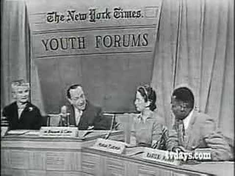 NEW YORK TIMES YOUTH FORUM 1956 PART 1