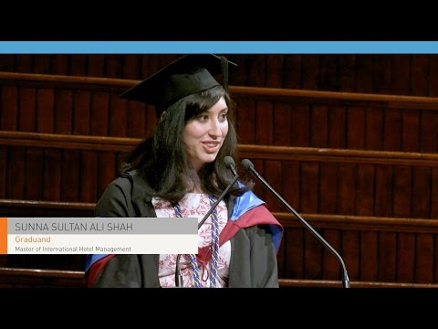 BMIHMS at Torrens University Master graduation speech,  Sunna