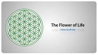 How to draw the Flower of Life - Sacred Geometry - step by step tutorial (english)