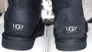UGG Boot Comparison - Leather vs Classic Short