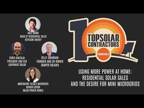 Top Solar Contractors Roundtable - Using More Power At Home: Residential Solar Sales