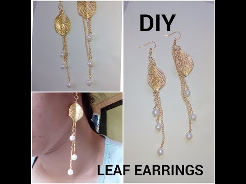 DIY | HOW TO MAKE LATEST STYLE METAL LEAF FALLING EARRINGS AT HOME