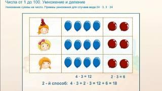 как умножить двухзначное число/ матемaтика 3 класс/