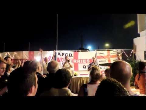 Jerusalem sung at Barmy Army Party Kolkata 8 December 2012
