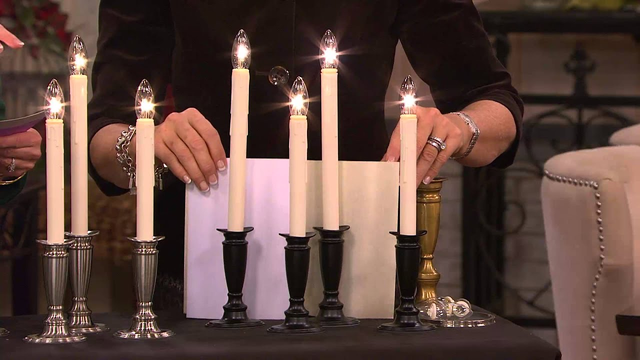 Battery operated window candles with timer - Set Of 4 Window Candles With Timer By Valerie With Mary Beth Roe