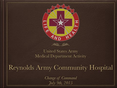 Reynolds Army Community Hospital Change of Command