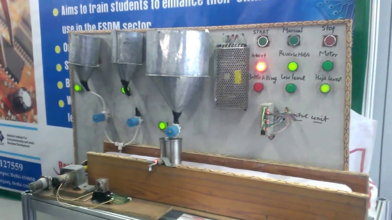 Water Bottle Filling Plant Project Using Plc