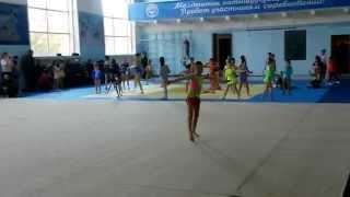 Художественная гимнастика . Бишкек . СК. Динамо 2014 декабрь