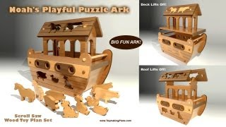 Wood Toy Plan - Playful Puzzle Ark