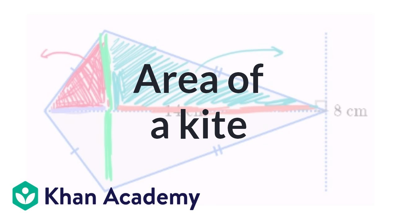 Area of a kite | Perimeter, area, and volume | Geometry ... | 1280 x 720 jpeg 63kB
