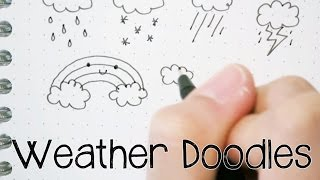 How to Draw Cute and Easy Weather Icon Doodles | Doodle with Me