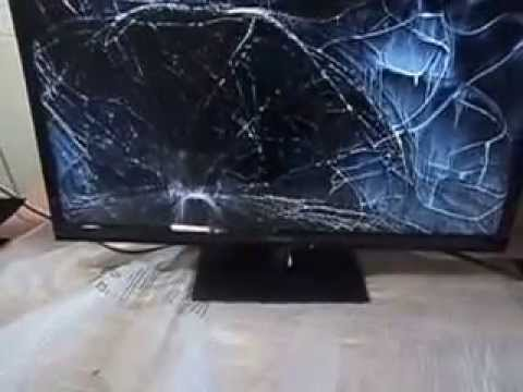 e7b409b32 TV LED PANASONIC TC-L32B6B com a tela quebrada - YouTube