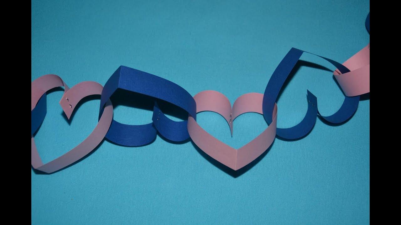 Basteln Mit Papier Herzgirlande